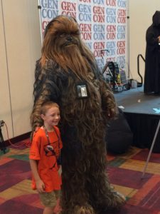 A friendly Wookiee
